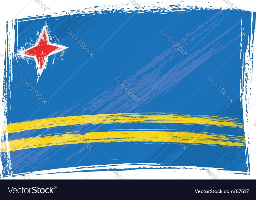 Grunge aruba flag