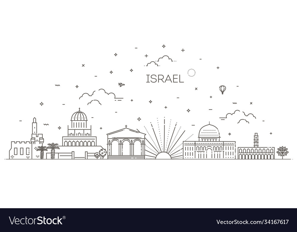 Linear icon for israel