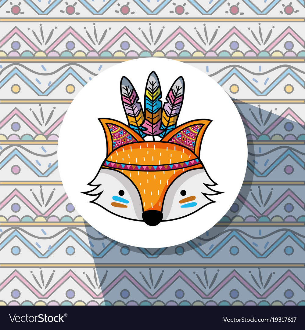 Nice fox tribal animal woodland