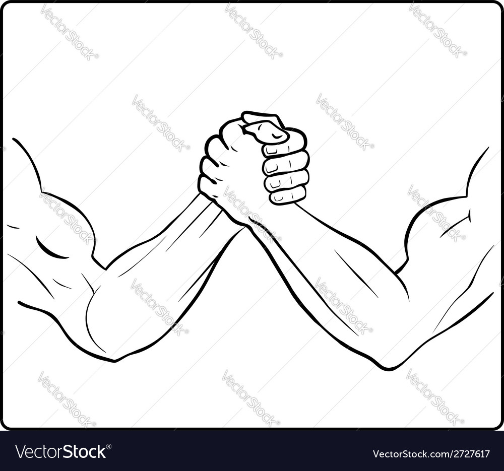 Powerful handshake vector image