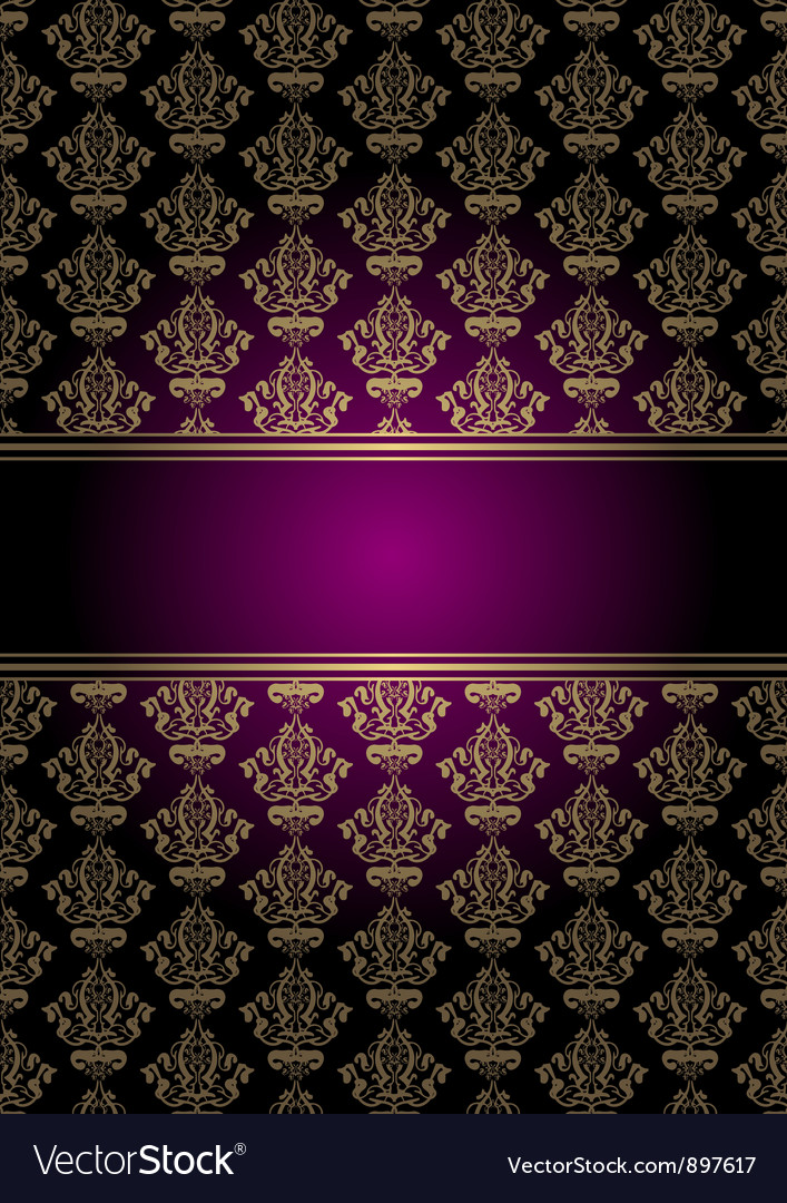 Purple and gold background vector image