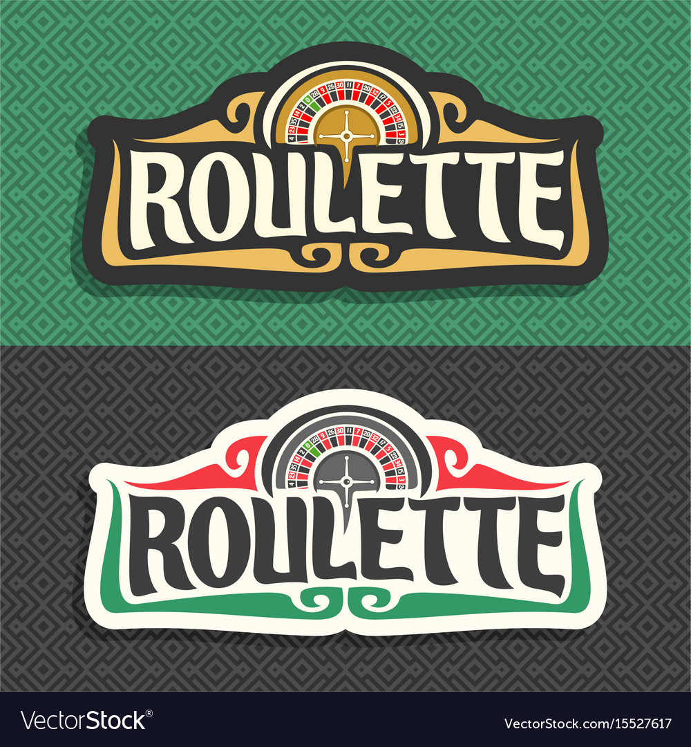 Roulette signboard vector image