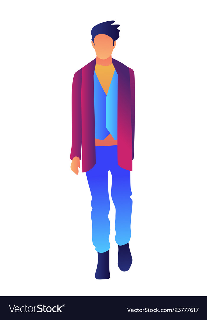6a43591f Stylish handsome man in fashion clothes Royalty Free Vector