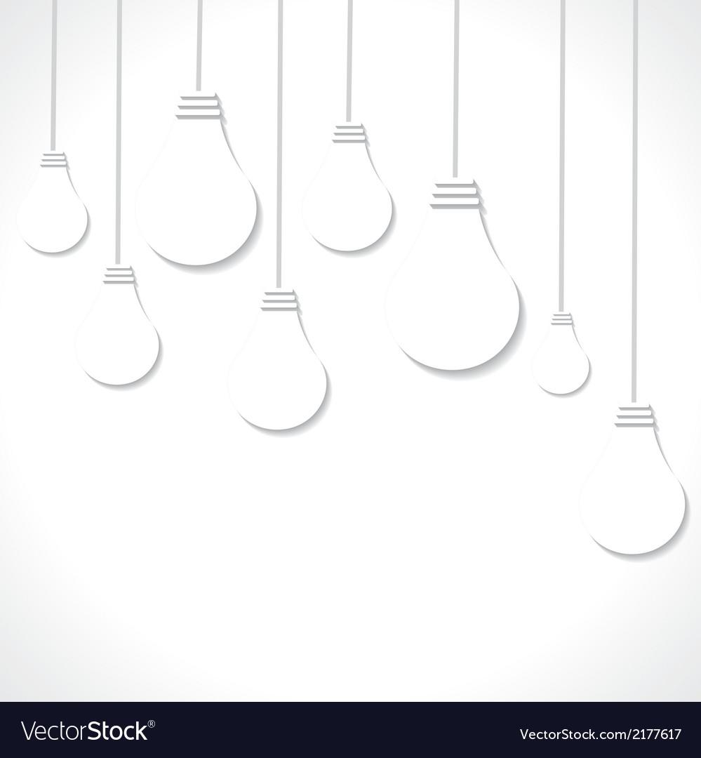 White bulb background vector image