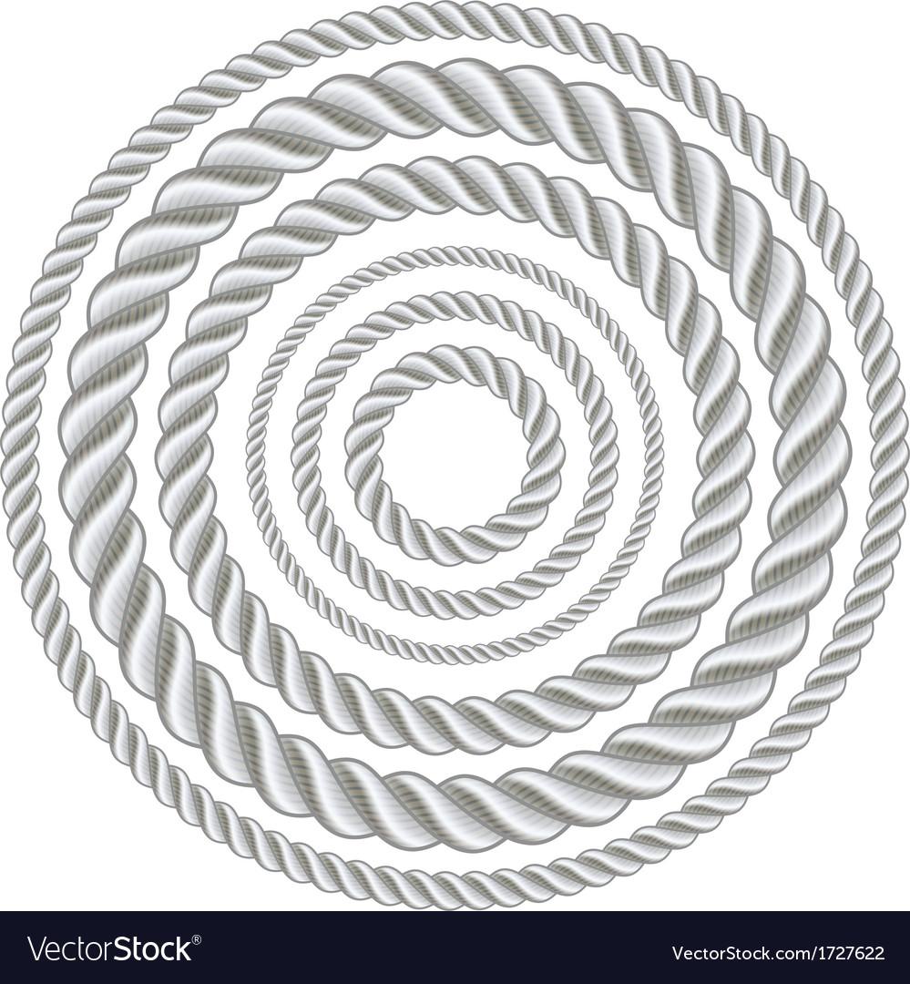 Circle ropes vector image