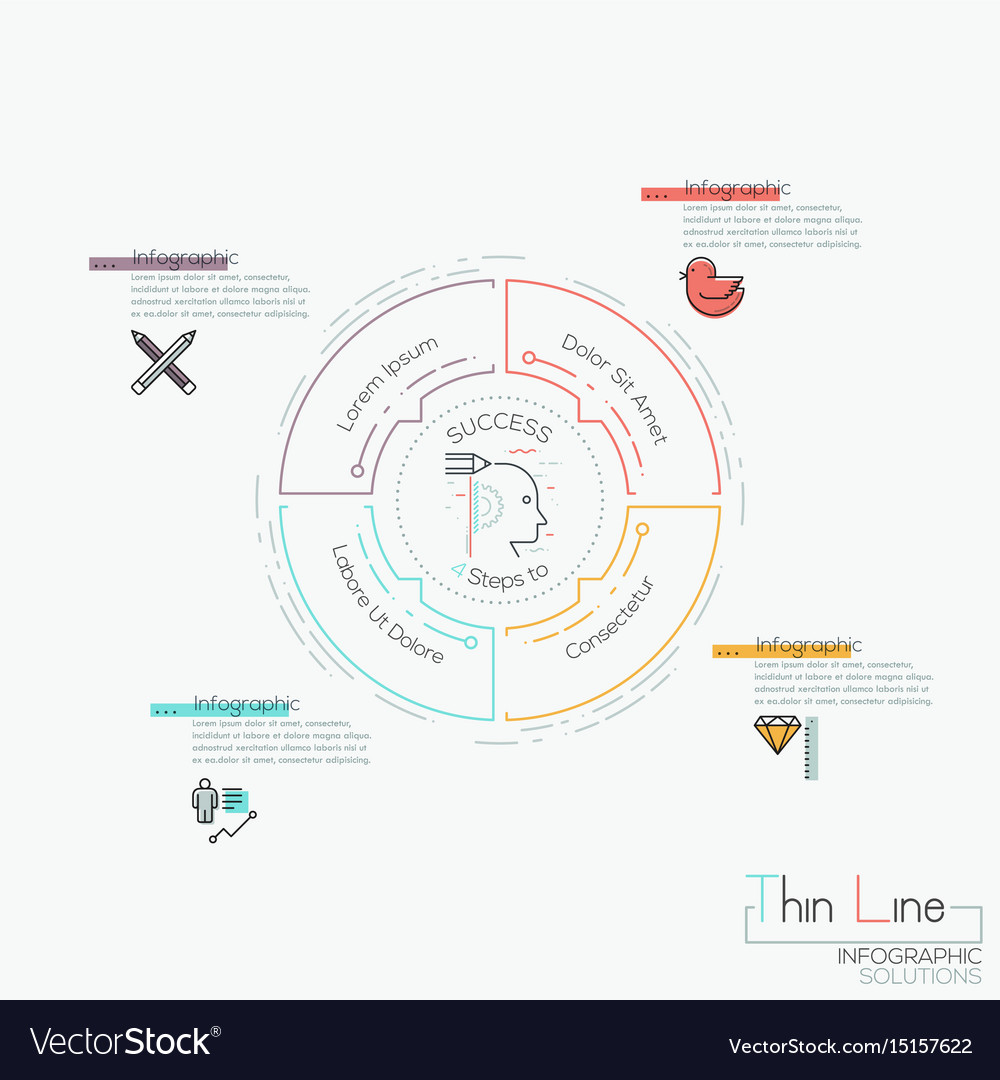 Infographic design template circular diagram with