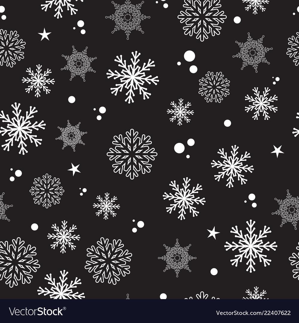 Seamless pattern snow snowflakes
