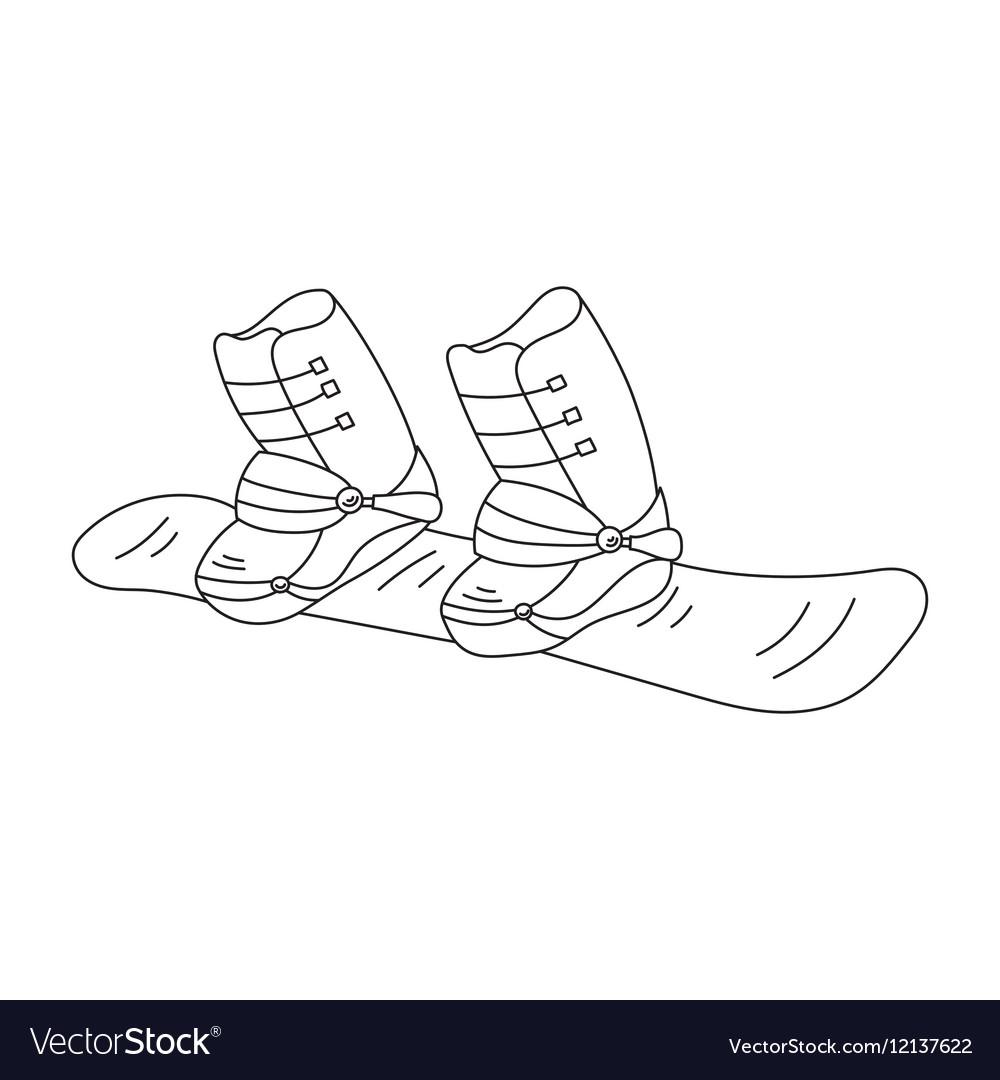 Snowboard line icon