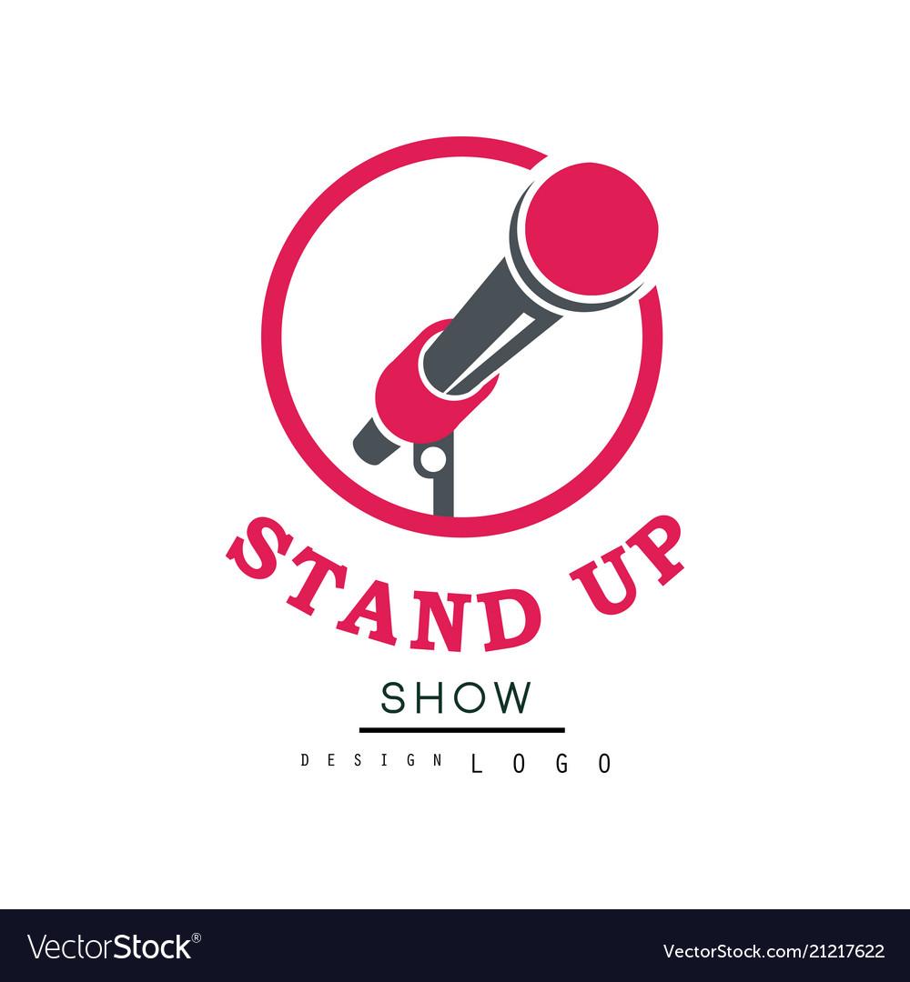 Stand up show logo design comedy club emblem