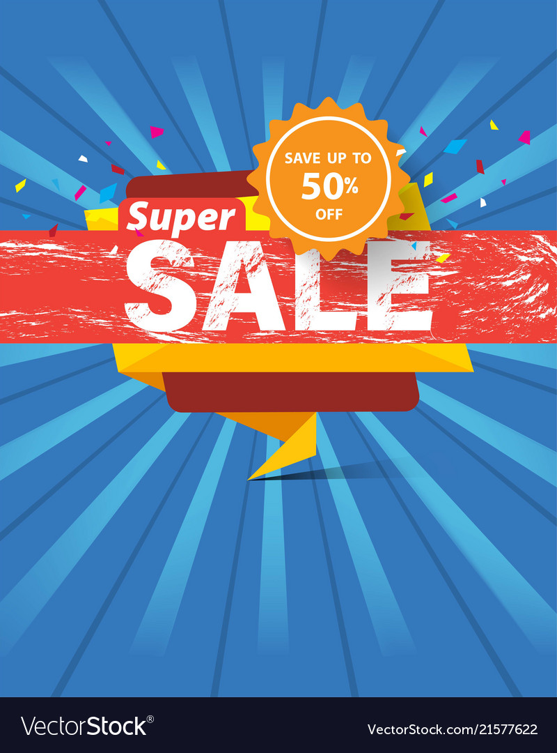 Super sale template banner special discount up to