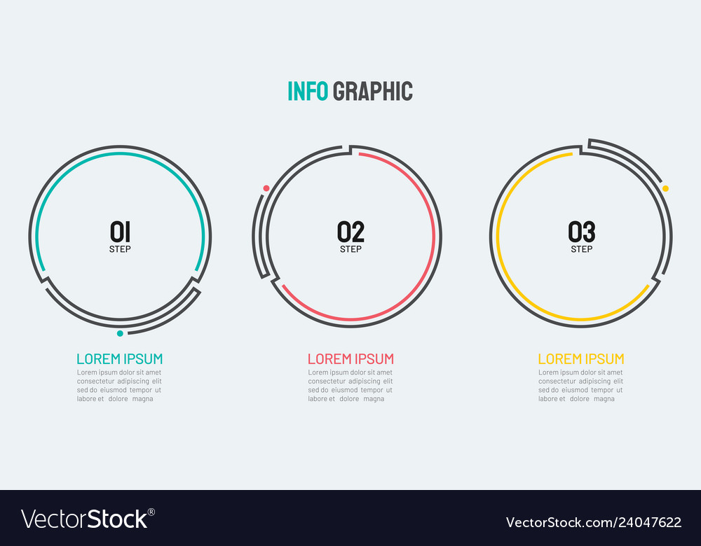 Thin line element for infographics