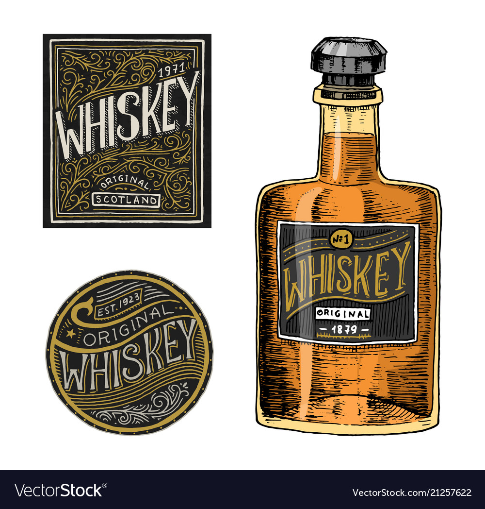 Vintage american whiskey badge alcoholic label