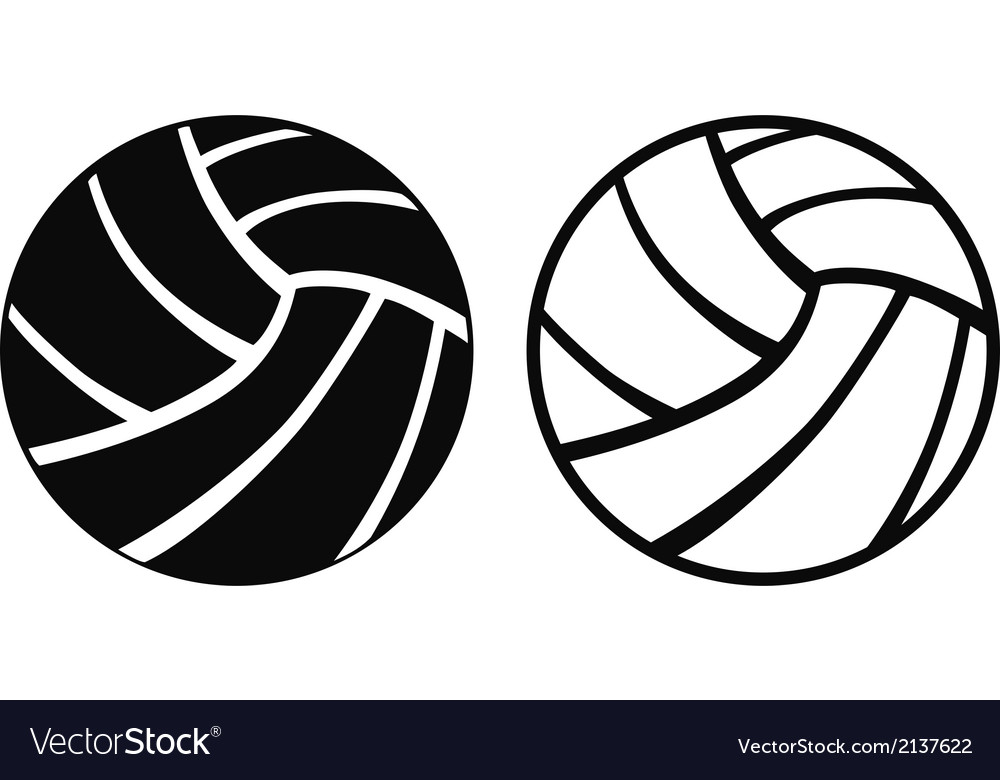 volleyball royalty free vector image vectorstock rh vectorstock com volleyball vector clip art free volleyball vector balls