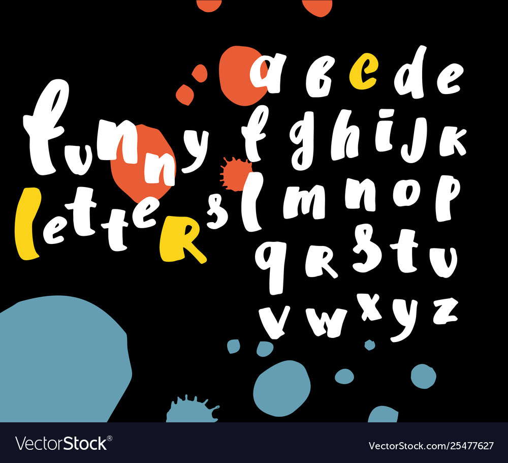 Alphabet hand drawn letters letters of
