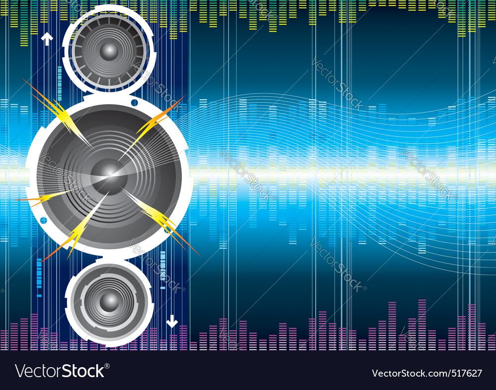 Audio background vector image