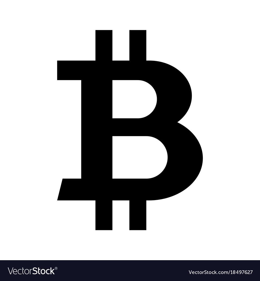Black bitcoin symbol Royalty Free Vector Image