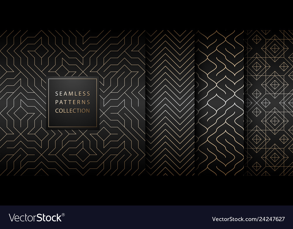 Collection of seamless geometric golden