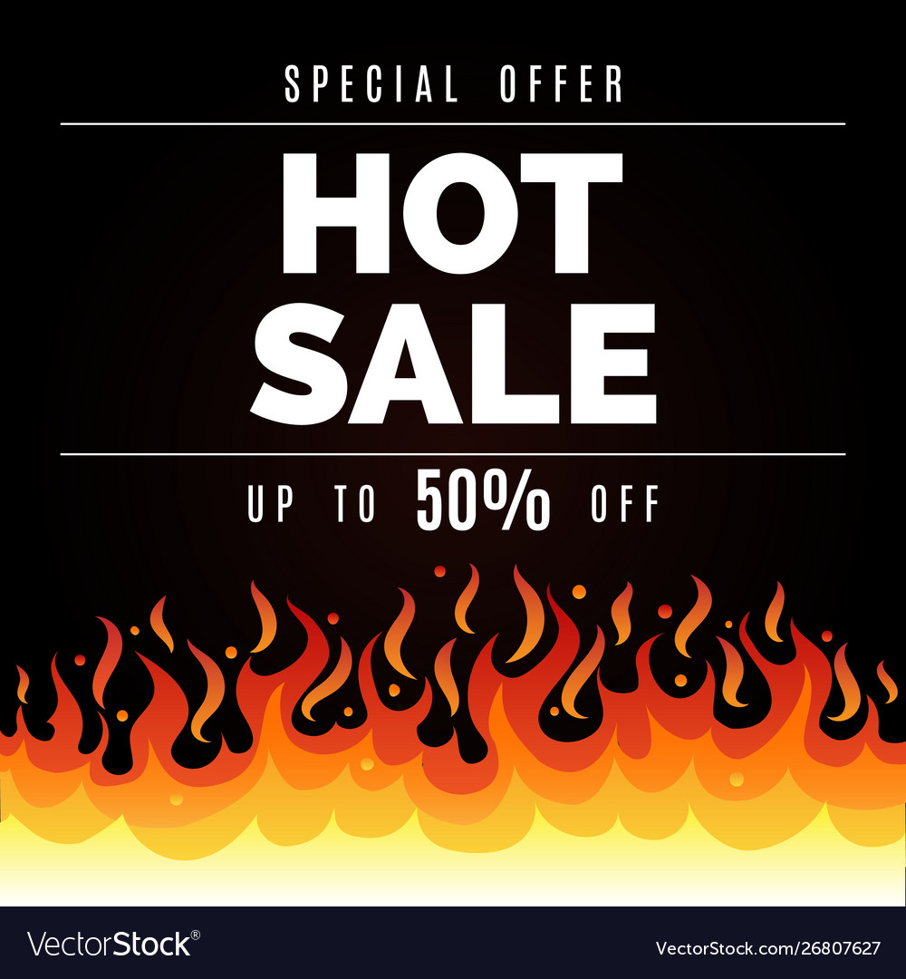 Fire sale background