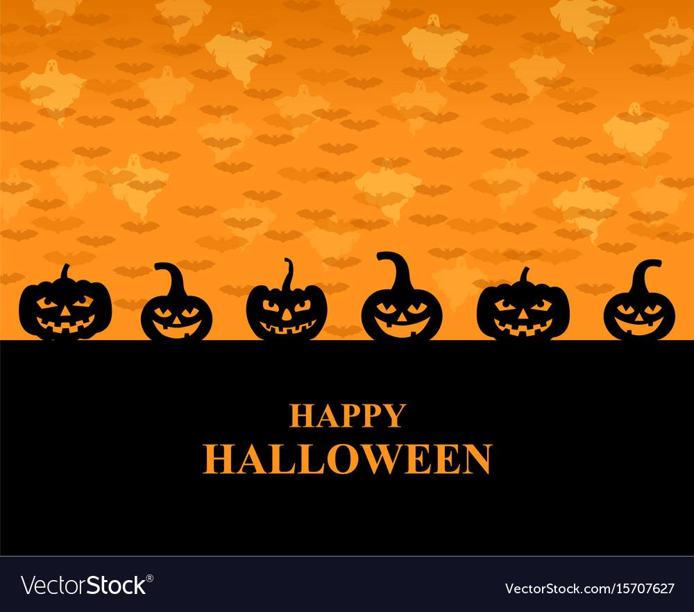 Halloween greeting pumpkins card