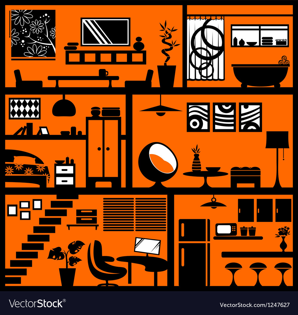 Home styling vector image
