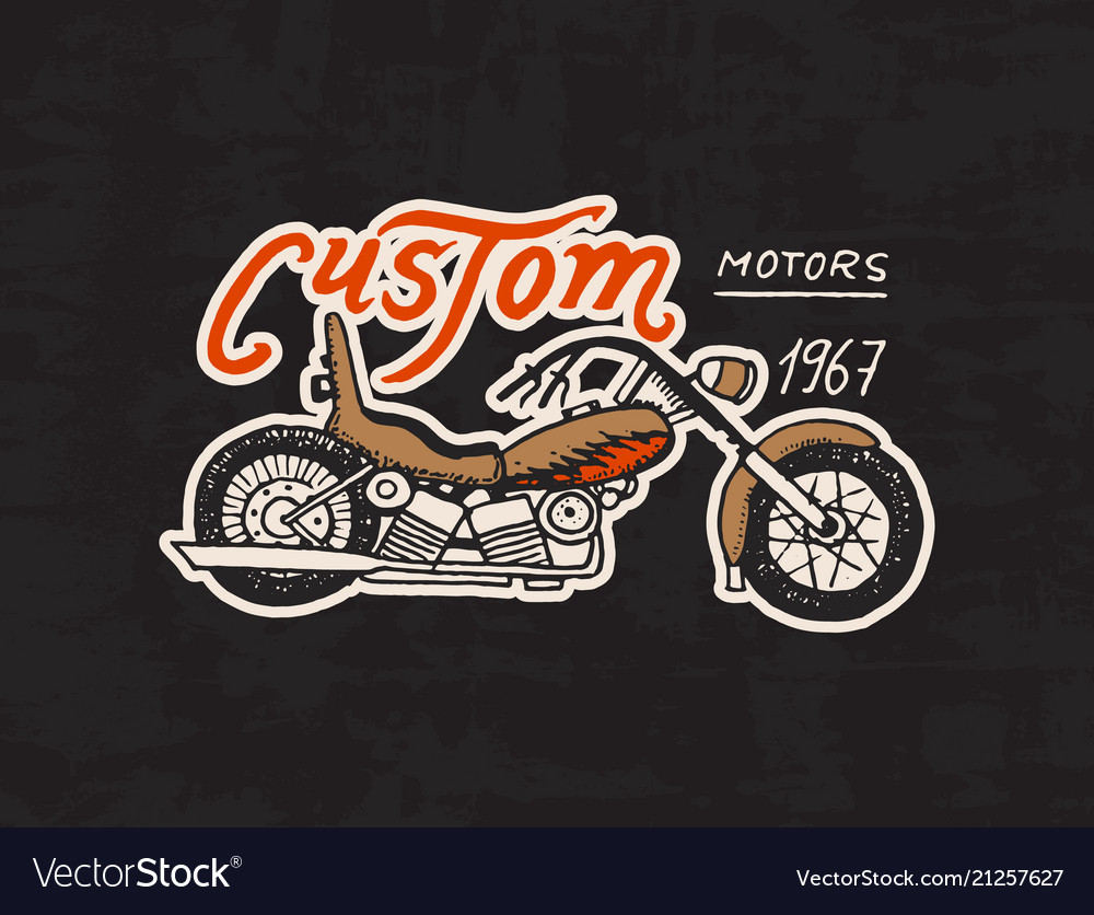 Motorcycles and biker club template vintage