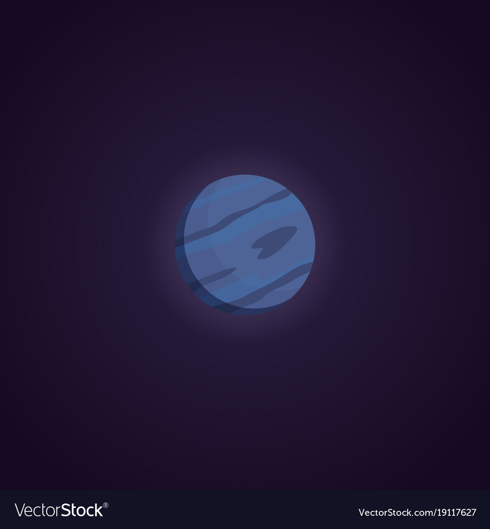 Neptune planet isolated in