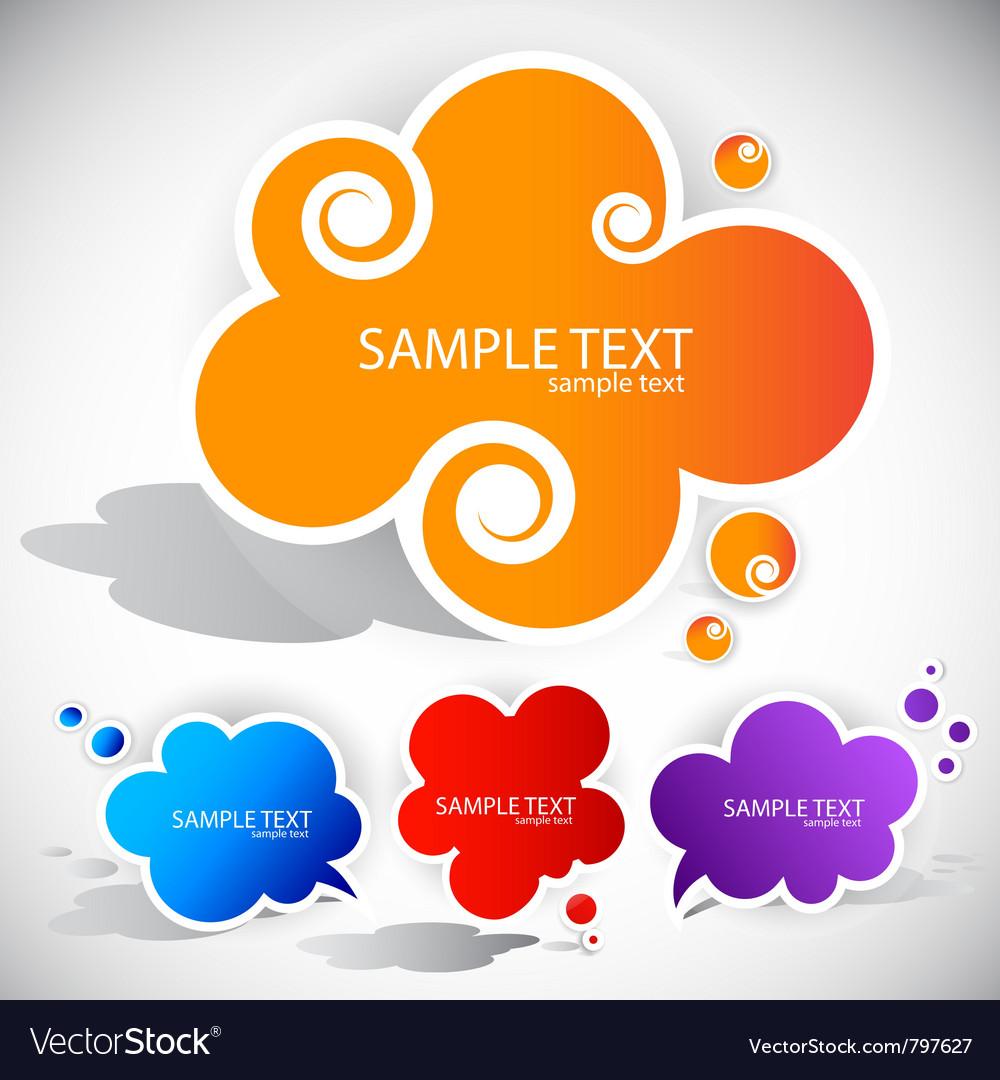 Paper cloud bubble for speech