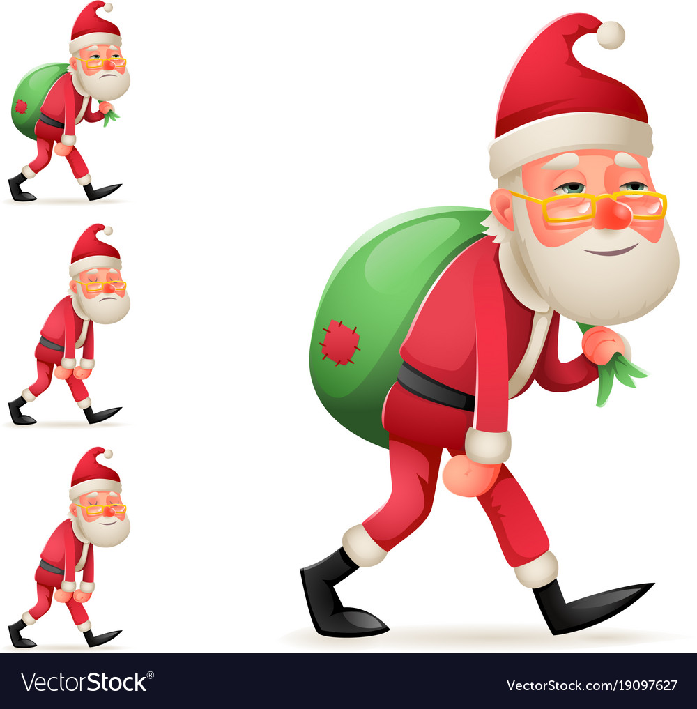 Pleased happy satisfied christmas santa claus