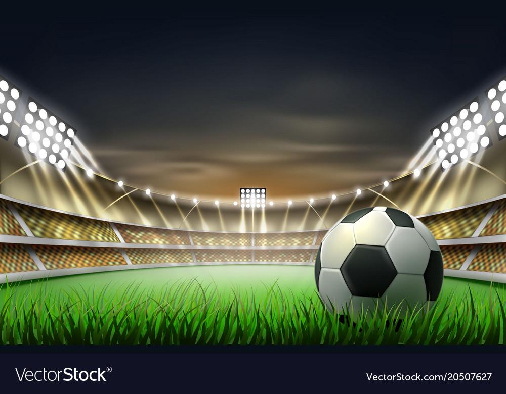 realistic footbal soccer stadium background vector image vectorstock
