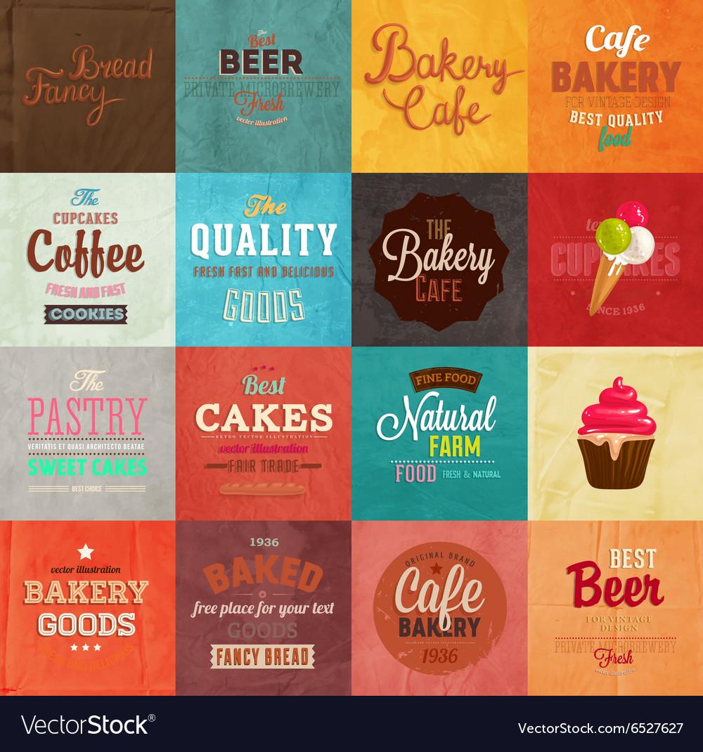Retro Bakery Label