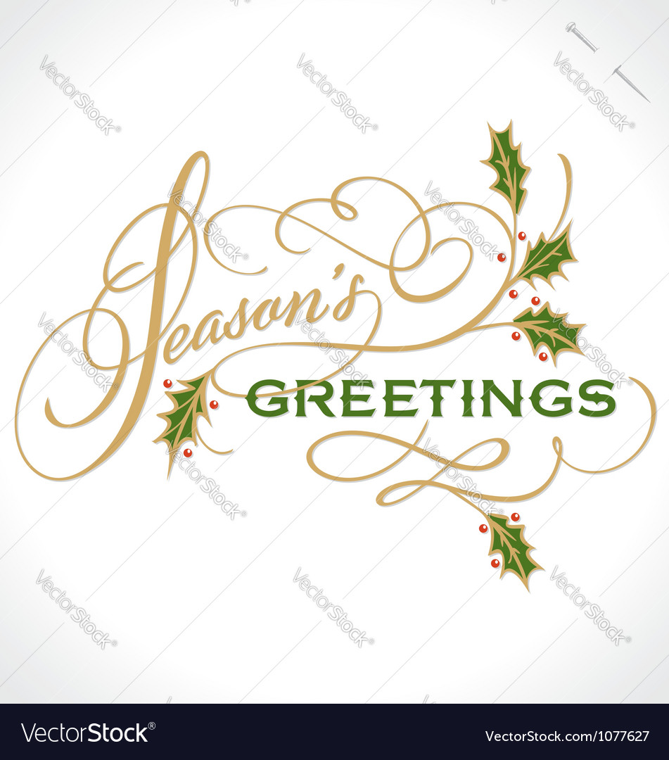 Seasons greetings hand lettering royalty free vector image seasons greetings hand lettering vector image m4hsunfo