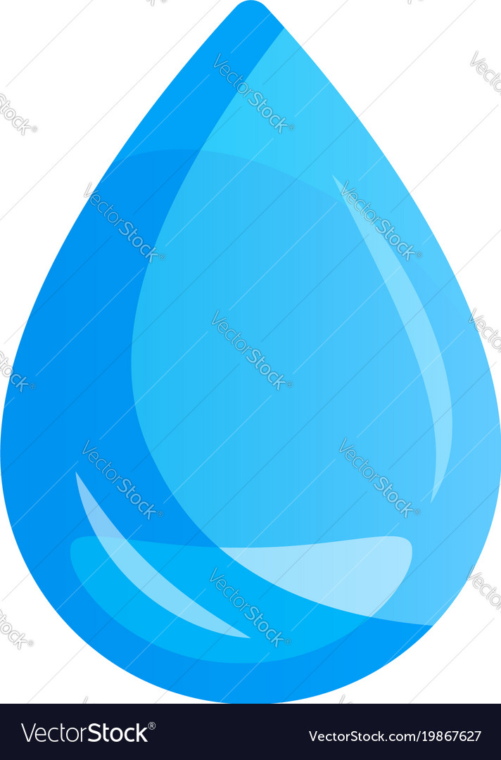 Water drop on light background