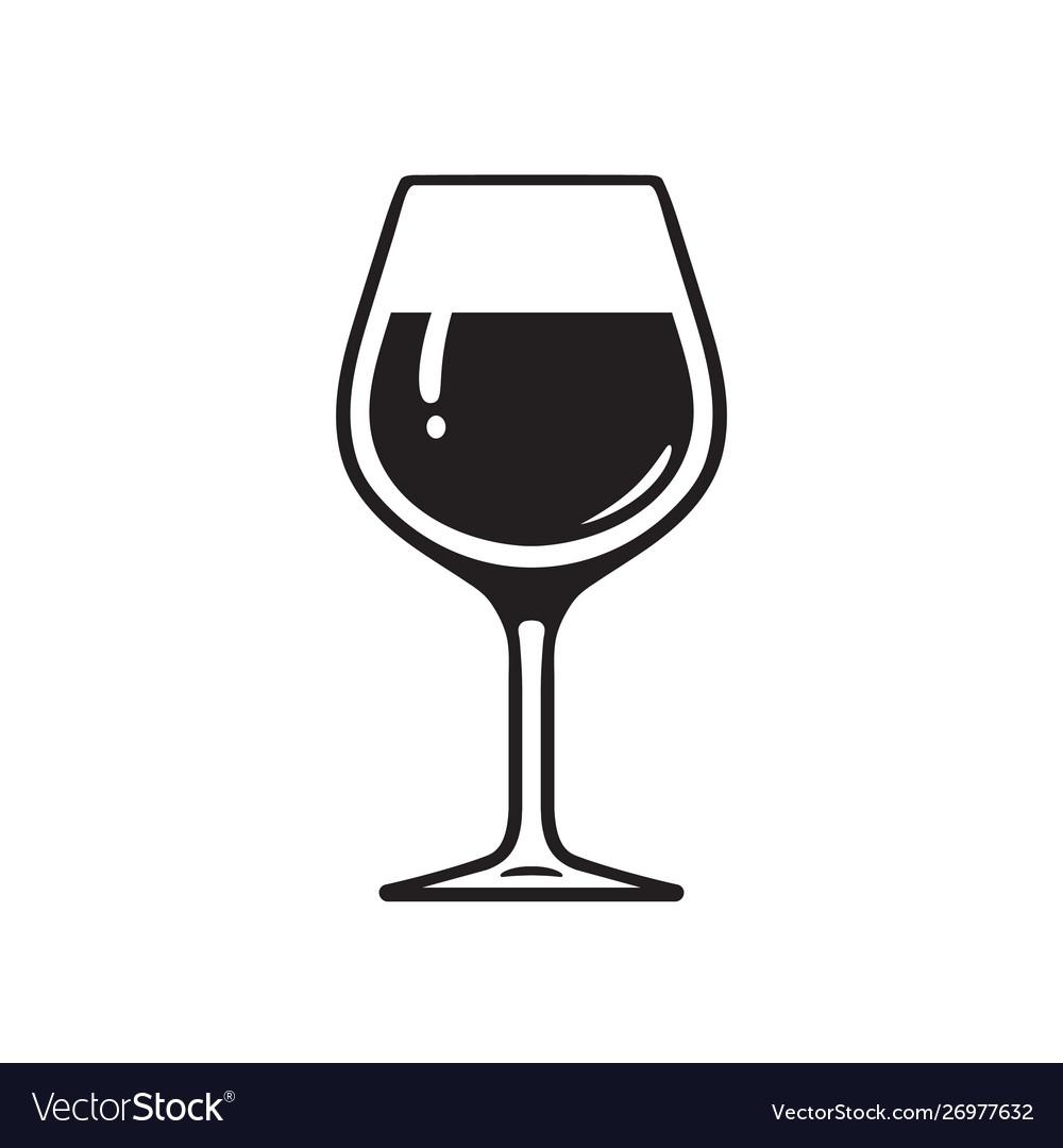 Glass wine wineglass icon