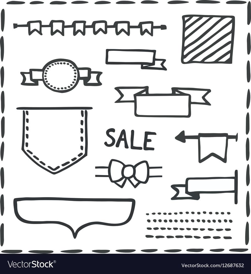 Hand drawn bullet journal headers or banner