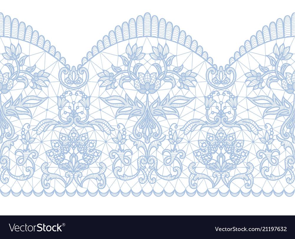 Seamless blue lace