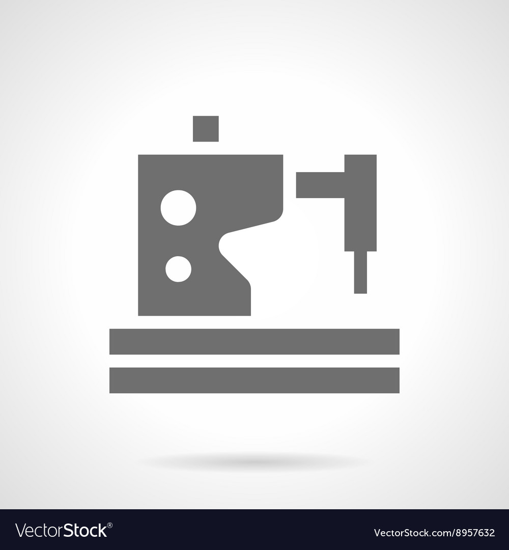 Sewing machine service glyph style icon