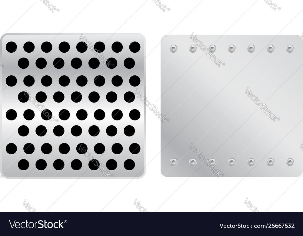 Silver plates set a