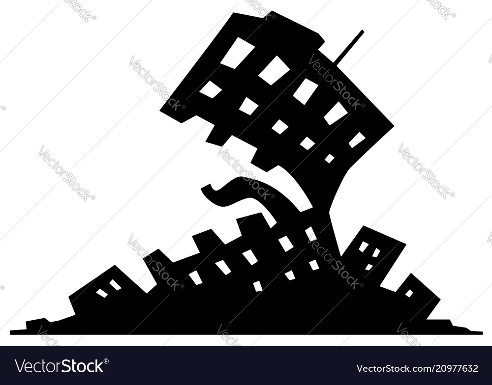 Urbanization Monster Symbol Royalty Free Vector Image