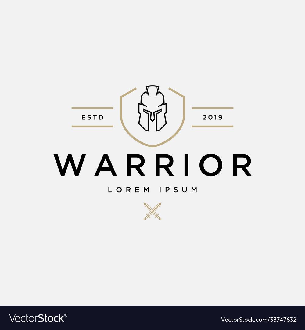 Warrior logo design template