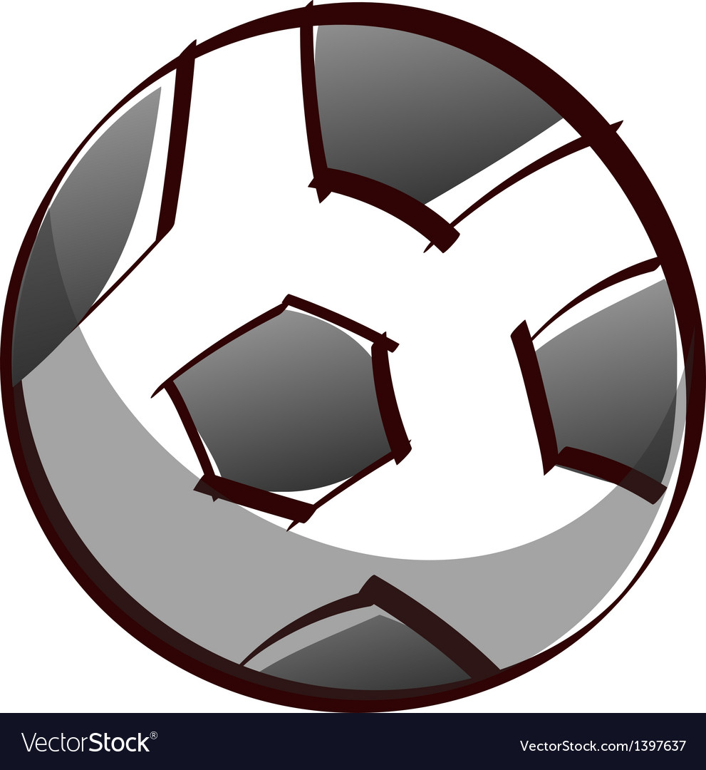 A soccer vector image