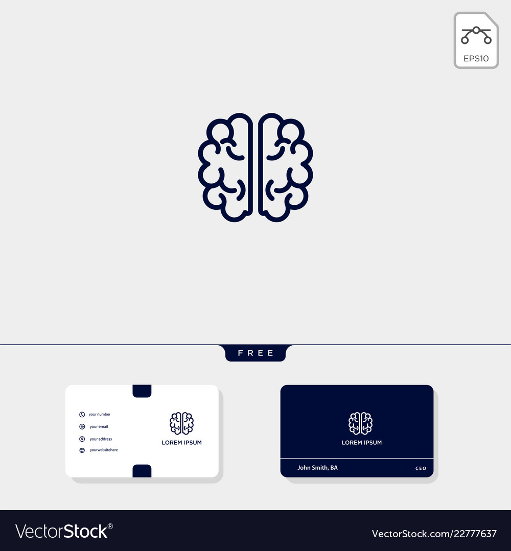 Brain premium logo template for your business and
