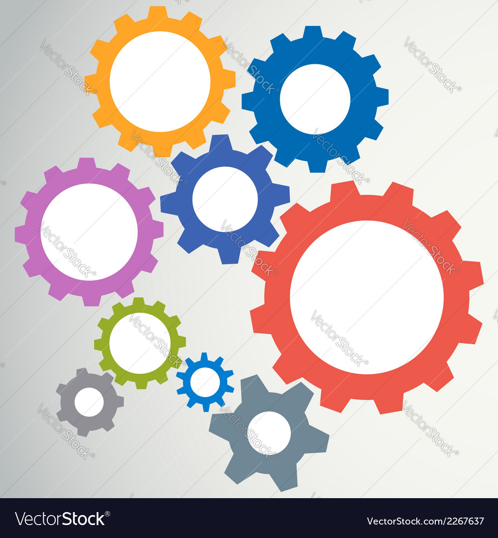 Gear modeling abstract background vector image