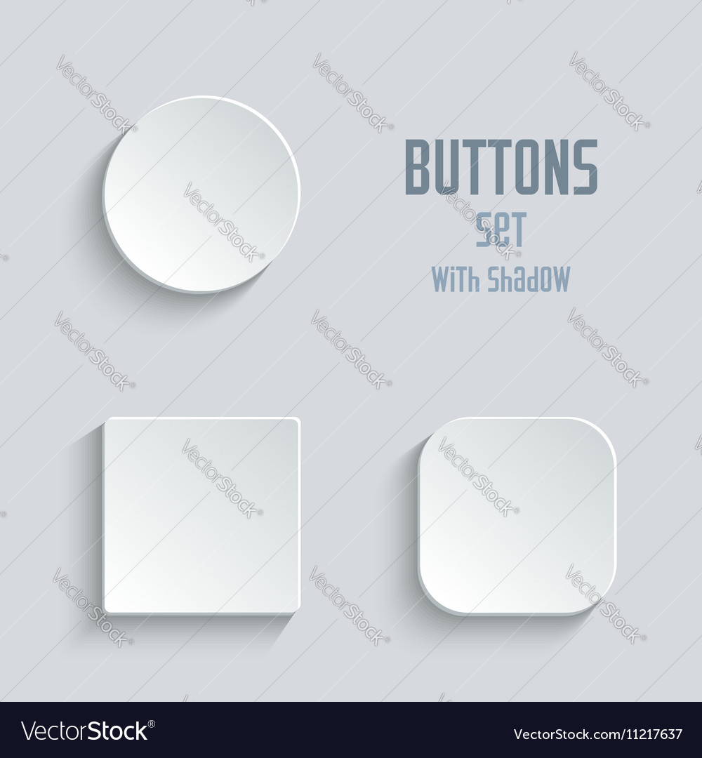 Media icons set - white app buttons