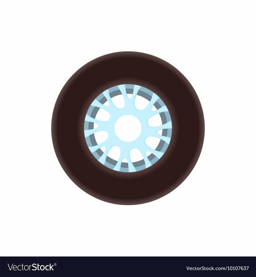 Racing wheel icon cartoon style vector image