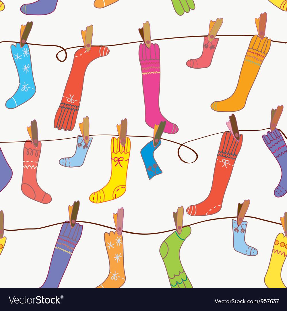 Seamless Socks Background