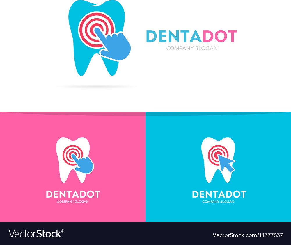 Tooth and click logo combination Dental