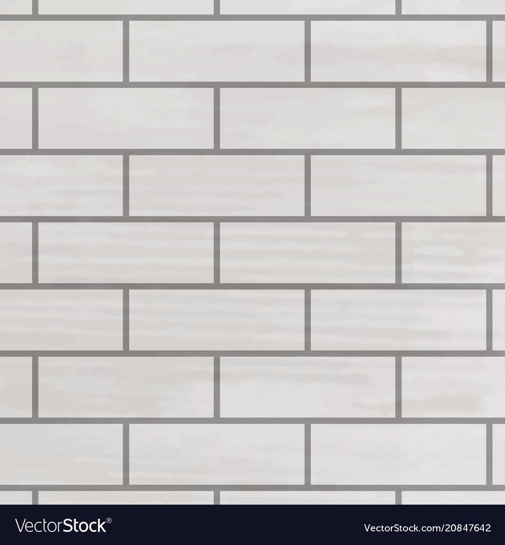 Brick wall white texture vector image