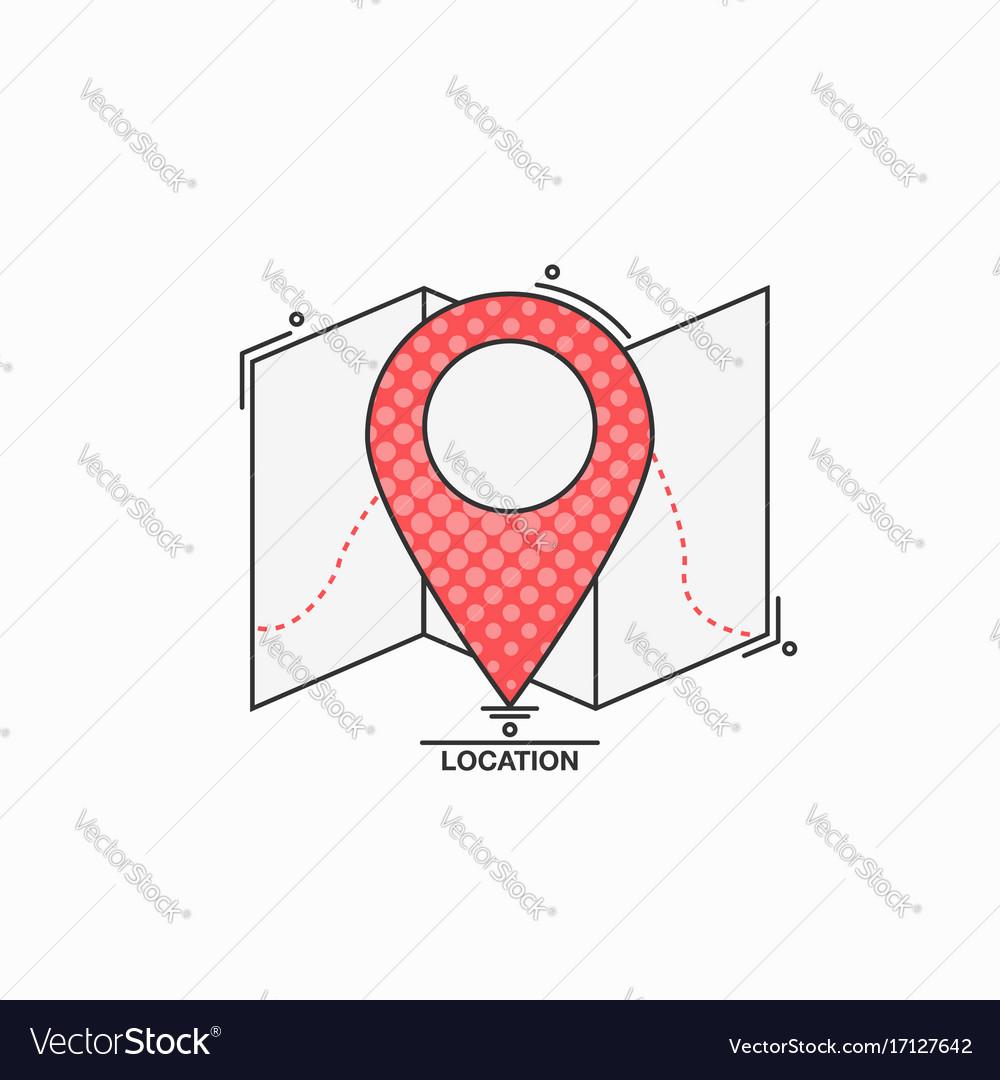Check point creative symbol concept flat thin