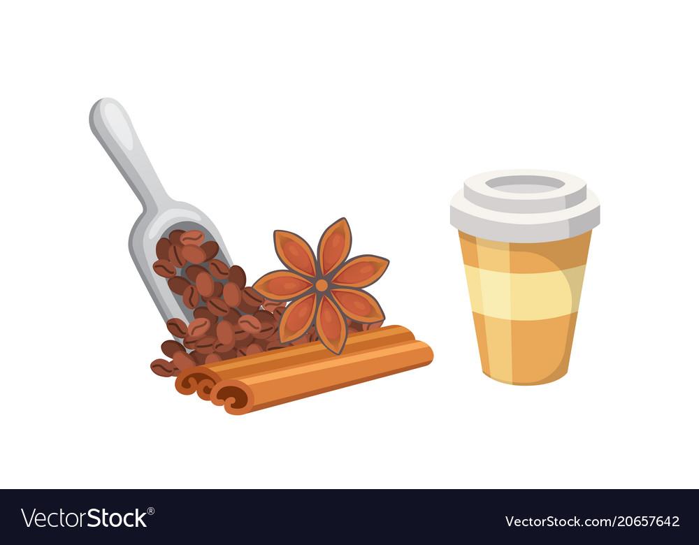 Coffee dessert isolated