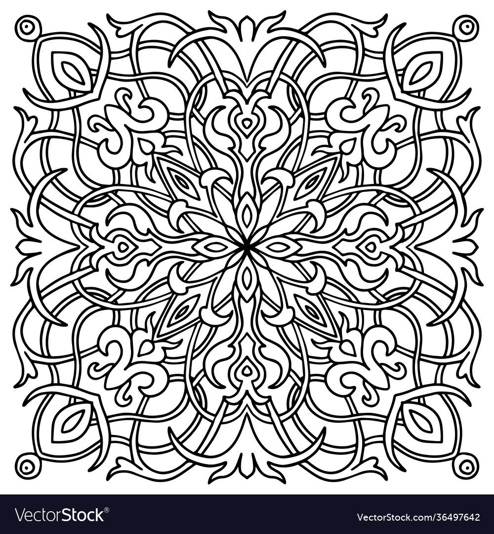 Hand drawn mandala oriental decorative